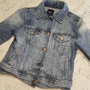 Gap Kids Medium Light Wash Denim Button Jacket
